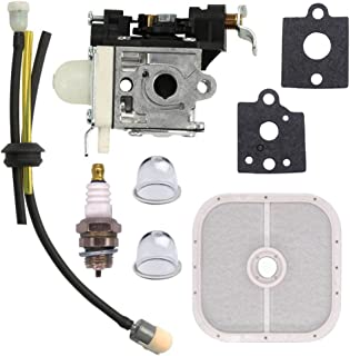 NIMTEK New CARBURETOR Turn up Kit with Air Filter Spark Plug for ZAMA RB-K90 fits Echo PB-251 PB-255 PB-255LN ES-255 Blowers