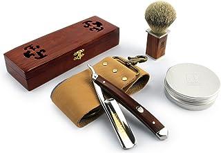 A.P. Donovan - Rasoir traditionnel de barbier pour homme | Coupe Choux | Razor | Rasage | Acajou