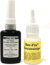 Ber-Fix® 10 g UV-lijm glaslijm dik vloeibaar 500-1000 met speciale reiniger