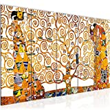 decoración de la mesa Wall Gustav Klimt Árbol de la Vida - 200 x 80 cm Vista de impresión en lienzo Salón Apartamento - listo para colgar - 700055a