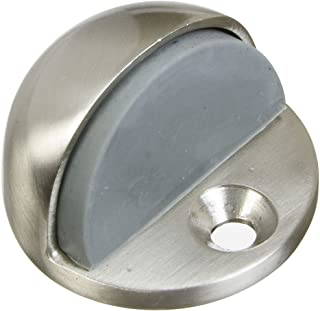 National Hardware V1936 Floor Door Stops - Solid Brass in Satin Nickel