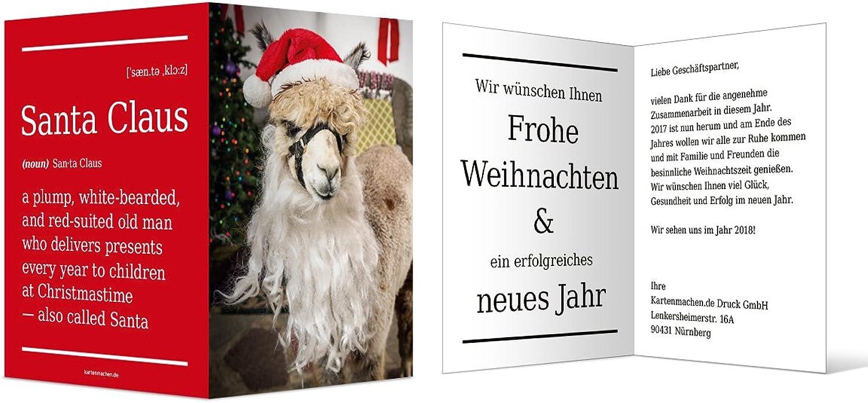 60 60 60 x Firmen Weihnachtskarten Geschäftlich Grußkarten - Alpaka Weihnachtsmann B0767MWCVC | Exquisite (mittlere) Verarbeitung  2c5885