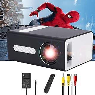 PADZUO Pro projector, draagbare mini-projector voor mobiele apparaten, compatibel met USB-hoofdtelefoonaansluiting, HDMI, ...