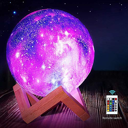 Mond Lampe, 3D LED Mondlicht Lampe Mondlicht für Kinder, [Touch Control] [USB Aufladung] , Dimmbar Touch Control Helligkeit Licht Geschenke für Liebhaber, Eltern, Freunde