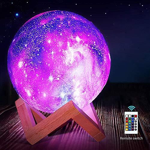 Lámpara de luna, impresión 3D, luz de luna LED , [control táctil] [carga USB] , control táctil regulable de brillo de luz regalos para amantes, padres, amigos