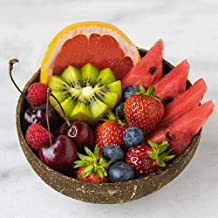 Coconut Bowls And Wooden Spoons Sets - Natural Eco - Friendly - Set of 2 (2xCoconut Bowls & 2x Wooden Spoons) Mixing Salad...