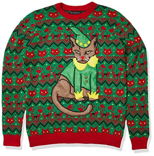 Ugly Christmas Sweaters Men Elf Head Pullover Sweaters