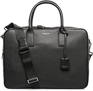 Michael Kors Leather Bag For Men,Black - Briefcases