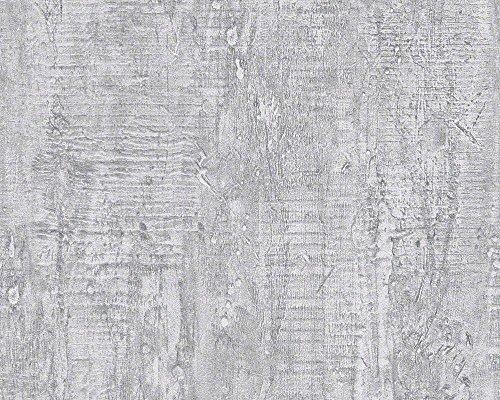 Schöner Wohnen 944265 Vliestapete Beton Concrete & More Tapete, Mustertapete in Betonoptik, grau, Steingrau, 10,05 m x 0,53 m