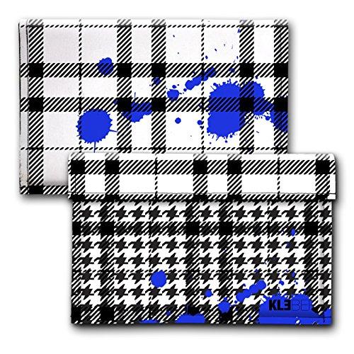 Coole Tasche passend für Apple Macbook 12 Zoll Sleeve - Schutz Hülle mit Filz / Hahnentritt - Muster von KLEBER *FISH´N´SHIPS