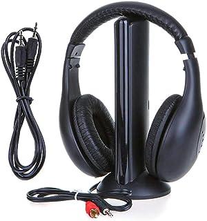 comprar comparacion LEDLUX VH3656 - Auriculares inalámbricos 5 en 1 para TV PC FM Radio Reproductor MP3 CD DVD