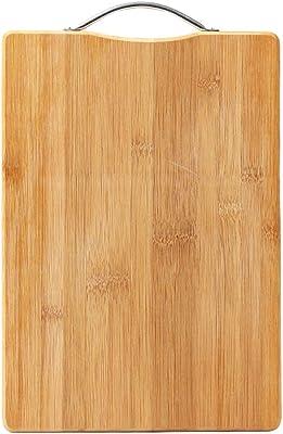 KLF 天然竹製まな板 抗菌 調理用まな板 フック付 カッティングボード 軽量な環境に優しい (24*34)