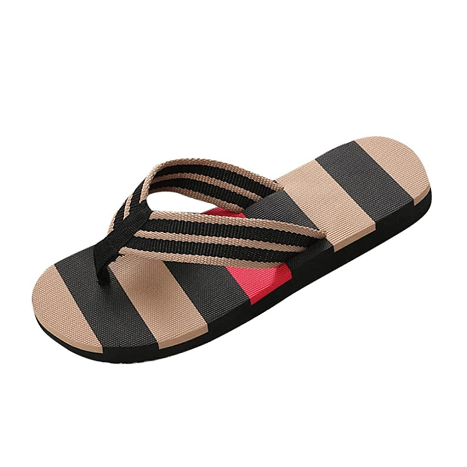 Todaies,Men Summer Round Toe Shoes Mixed Colors Sandals Male Slipper Indoor Or Outdoor Beach Flip Flops