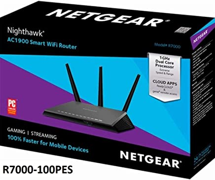 $119 Get Netgear (R7000P-100NAS) Nighthawk AC2300 Dual Band Smart WiFi Router, Gigabit Ethernet, MU-MIMO, Compatible with Amazon Echo/Alexa and Circle Smart Parental Controls (Renewed)