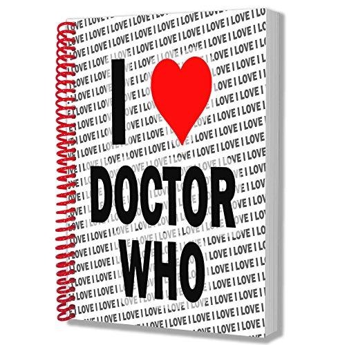 Taccuino 'I Love Doctor Who, formato A5, per compleanno, Natale, regalo