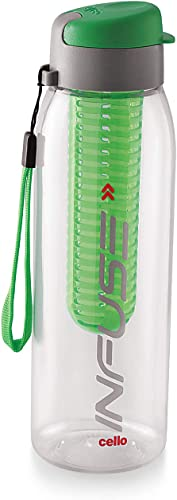 Cello Infuse Plastic Water Bottle 800 ml Green