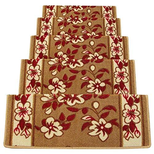 LILIS Tappeti per Scale Coprigradini per Scale Tappeti per Scalini Scale Anti Scivolo Rettangolare Tappeto per Le Scale Pedate Pads Autoadesiva Stile Europeo, 5 Colori, 5 Dimensioni