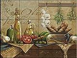 Ceramic Tile Mural - Olio d Olive- by Janet Stever