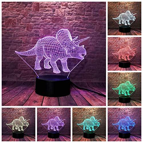 luz de noche lampara habitacion Lumius Trices Wold Juraic s 's Carga por USB del tacto de 7 colores del partido de la fiesta de la decoración del regalo de cumpleaños de los niños