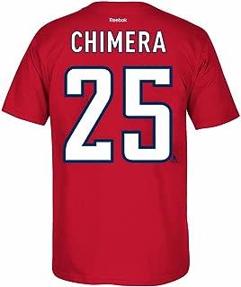 Jason Chimera Washington Capitals NHL Red Name & Number T-Shirt for Men