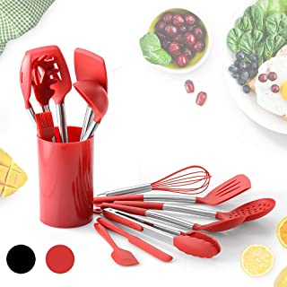 14Pcs Silicone Kitchen Cooking Utensils Set BPA Free Safe Turner Tong Spatula Spoon Eggbeater for Nonstick Pot Cooking Tool