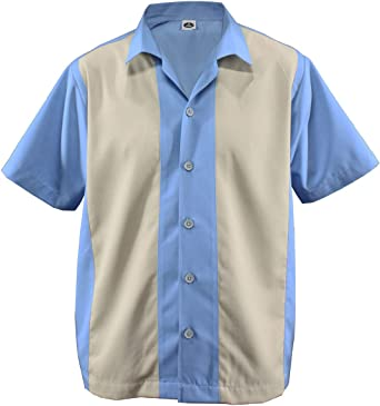 D600 - Camiseta para jugar a los bolos para hombre, dos colores, camiseta estilo vintage de los años 50