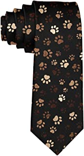 Paw Print Formal Tie, Men Neckties Suit Accessories - Fashion Slim Party Suit Neckties
