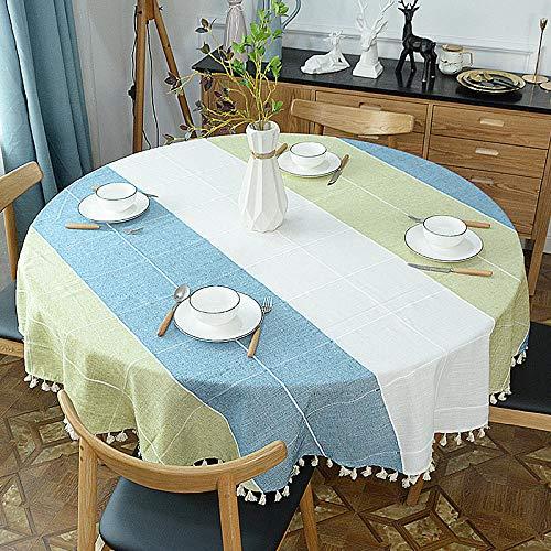 Onderhoudsvriendelijk, vuilafstotend, hoge temperatuurbestendigheid. Kleur en grootte naar keuze. Ronde eettafel, ronde salontafel, tafelkleed, diameter 180 cm.