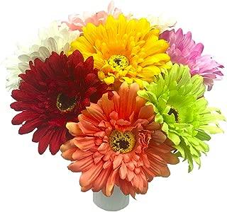 FagusHome Artificial Flowers Chrysanthemum Flowers 8pcs Multicolor Artificial Flower Bouquets Unpotted Glorious Moral for Home Décor Wedding Bouquets
