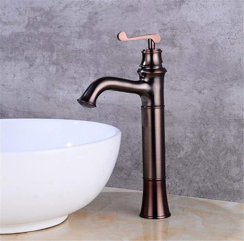 Wasserhahn Küche Waschbecken Badezimmer Wasserhahn einzigartiges Design aus massivem Messing Waschbecken Wasserhahn hei kalt schwarz Mischbatterie
