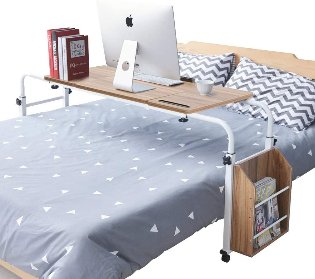 outlet price Yosoo Overbed Desk with Wheels Adjustable Laptop Height Cart Mo