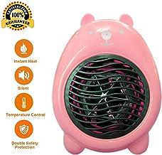 Acyon Mini Calefactor, Cerámico Caliente Ventilador, Calefactor de Aire Caliente bajo Consumo, Calentador de Espacio Eléctrico Portátil para Cuarto/Oficina,Protección contra sobrecalentamiento,Rosado