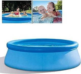 YQZ Piscina Inflable Familiar, Piscina Infantil Hinchable para niños, Engrosada y Aumentada, con Bomba de Filtro de 244x76 cm