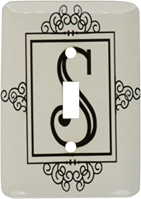 3drose Lsp 154342 1 Initial Letter S Personal Monogrammed Fancy Black And White Typography Elegant Stylish Personalized Single Toggle Switch Wall Plates Amazon Com