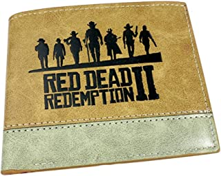 Red Dead Redemption 2 Series Printed PU Leather Fold Wallets Kids Student Wallet RDR2 Teens Money Coin Holder (2)