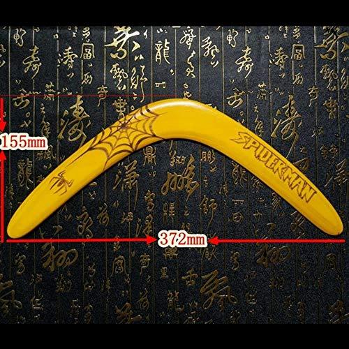 Piore Professioneller Holz-Bumerang Professionell gestalteter Sport-Bumerang mit ausgezeichneter Flugleistung, geeignet für Anfänger, Gelb