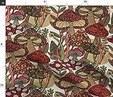 Spoonflower Stoff – Fungo Natur Wald Herbst Garten Pilze