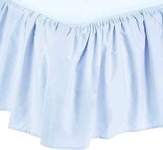 American Baby Company Ultra Soft Microfiber Ruffled Crib Skirt, Blue, for Boys and Girls