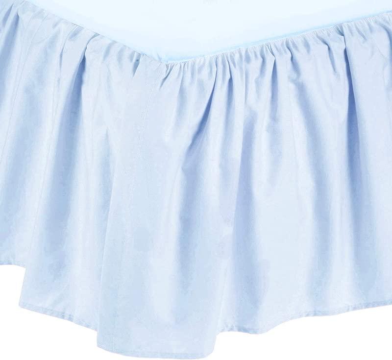 American Baby Company Ultra Soft Microfiber Ruffled Crib Skirt Blue For Boys And Girls