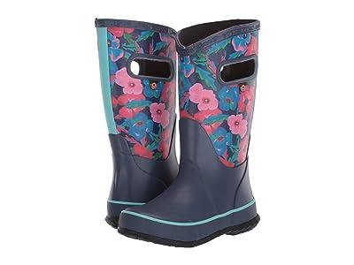 Bogs Kids Rain Boots Water Pansies (Toddler/Little Kid/Big Kid) (Indigo Multi) Girls Shoes