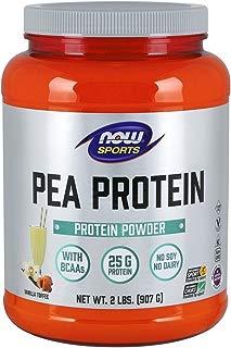 NOW Sports Nutrition, Pea Protein Powder, Vanilla Toffee, 2-Pound