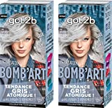 got2b color - Coloration Cheveux - BOMB'ART ARGENT - 098 L'Explosive - Semi Permanent - Lot de 2