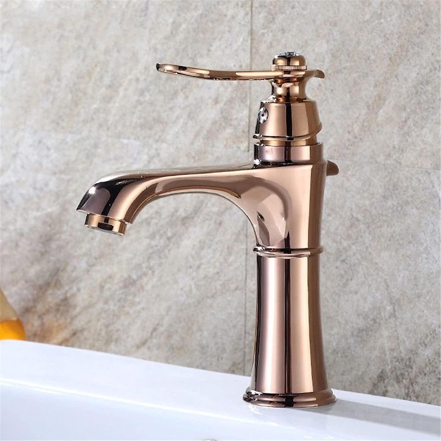 Lpophy Bathroom Sink Mixer Taps Faucet Bath Waterfall Cold and Hot Water Tap for Washroom Bathroom and Kitchen Hot and Cold Champagne gold