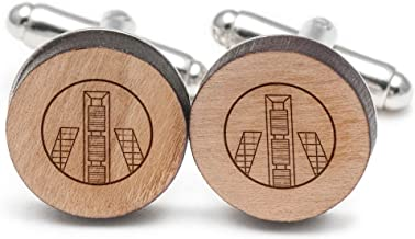 Wooden Accessories Company Madrid Cufflinks, Wood Cufflinks Hand Made in The USA