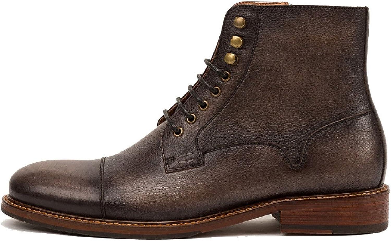 ZPJSZ män England Autumn Casual Youth mode Retro Retro Retro Lace läder stövlar, CoffeeFärg -38  Alla produkter får upp till 34% rabatt