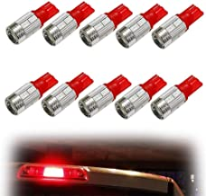 iJDMTOY (10) Brilliant Red 10-SMD 921 912 920 168 T10 LED Replacement Bulbs For Truck Exterior 3rd Brake Lamp Cargo Lights