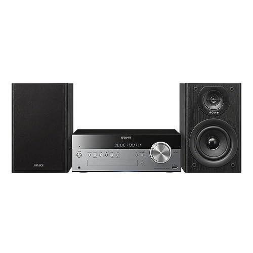 Sony CMT-SBT100 - Microcadena de 50 W (CD, FM/AM, Bluetooth, NFC, USB, estéreo), color negro y plateado