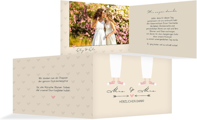Hochzeit Dankeskarte Pärchen Pärchen Pärchen - Frauen, 20 Karten, Beige B07B6RT95N | Reichhaltiges Design  22595f