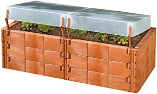 Exaco Trading Company Twin Box 20375 Raised Bed with Cold Frame