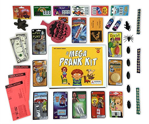 1. The Mega Prank Kit - 35 Funny Pranks and Jokes in a Gift Box